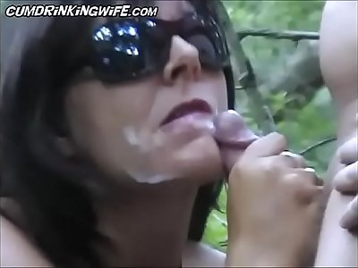 CumDrinkingWife - Woods1 - Continue To Watch At CuckoldPlayGround.com