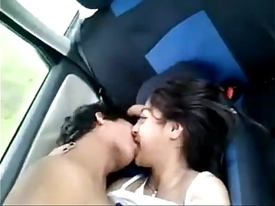 sexy desi Indian teen exposed in car