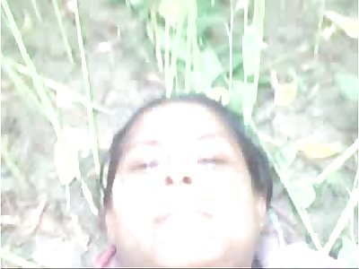 Desi village aunty fucked outdoor with young lover